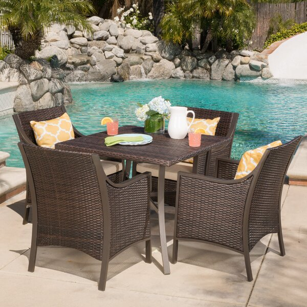 Liggins 5 Piece Dining Set with Cushion by Brayden Studio