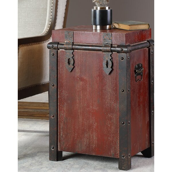 Carpenter End Table with Storage by Williston Forge