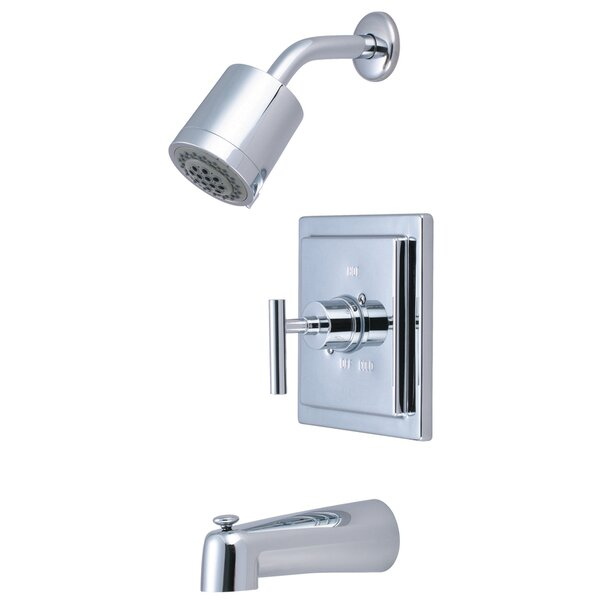 Manhattan Volume Control Tub and Shower Faucet with Single Lever Handle by Elements of Design Elements of Design