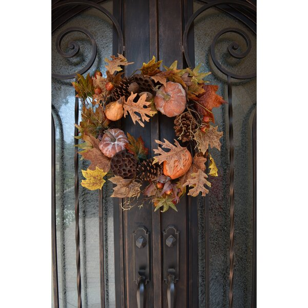 24 Harvest Display Wreath by Admired by Nature