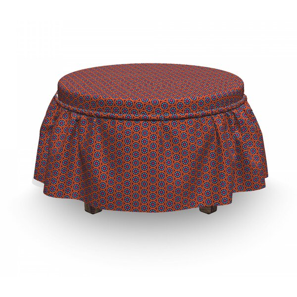 Ornate Spring Flowers Ottoman Slipcover (Set Of 2) By East Urban Home