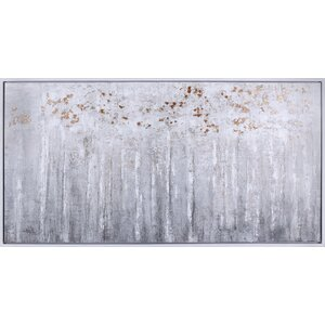 'Bronze Forest' Framed Acrylic Painting Print on Canvas by Union Rustic