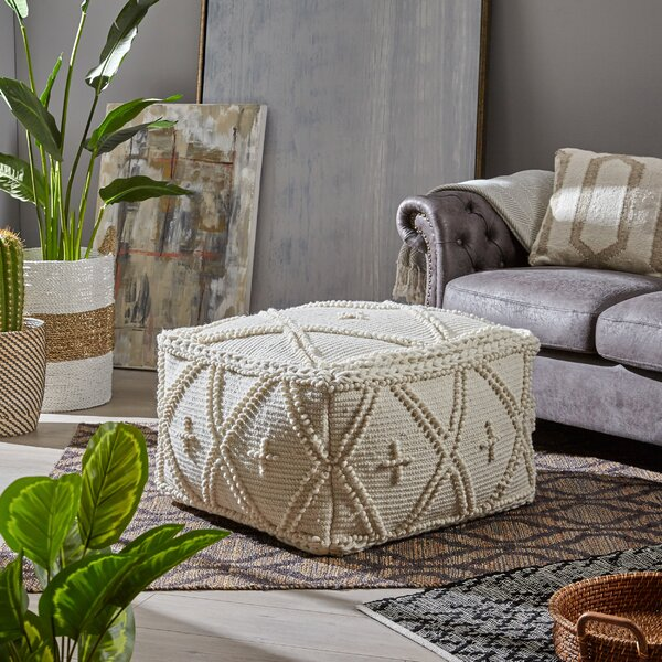 Bencomo Boho Pouf By Bungalow Rose Today Only Sale