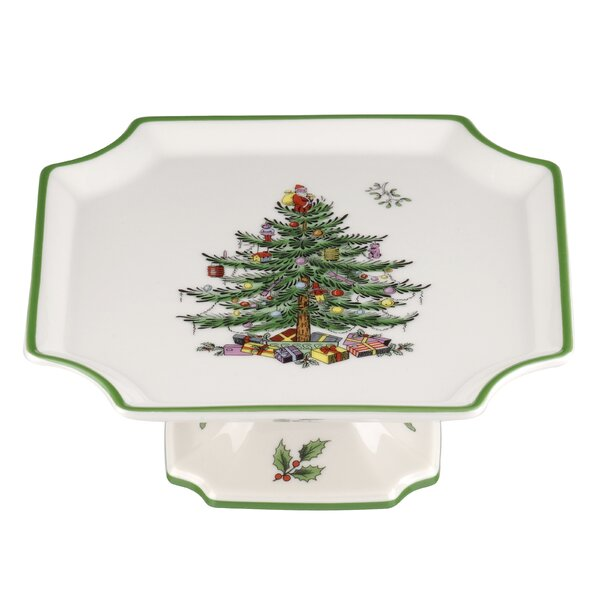 Christmas Tree Serve Footed Cake stand by Spode