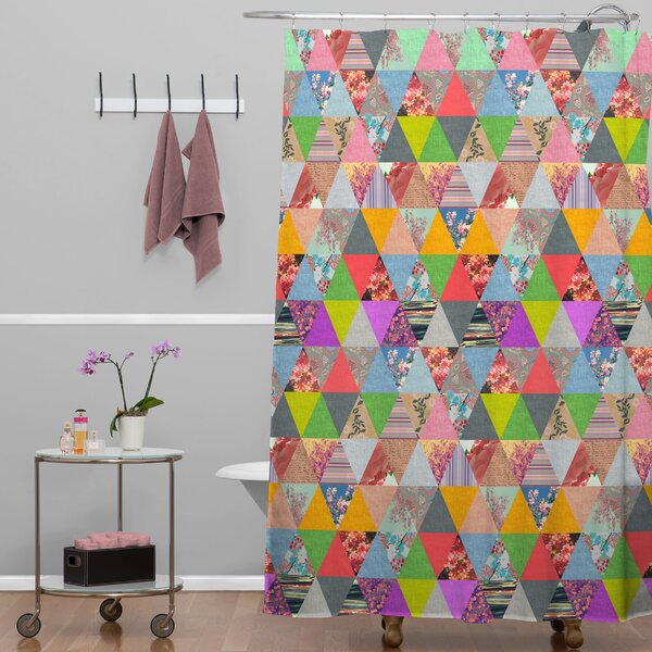 Bianca Green Lost in Pyramid Shower Curtain by Deny Designs