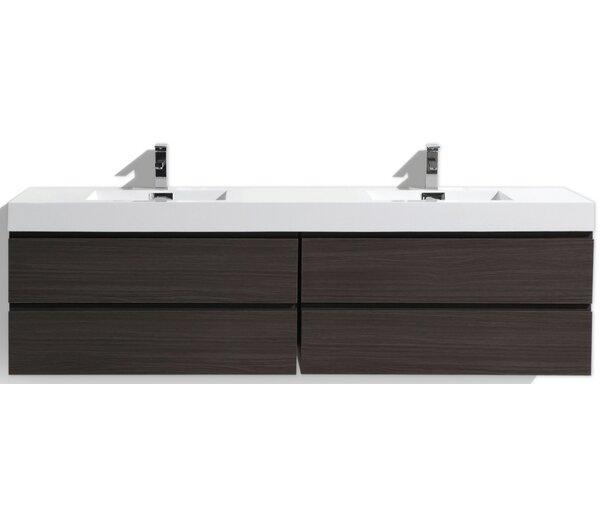 Leni 79 Wall-Mounted Double Bathroom Vanity Set