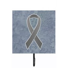 Grey Ribbon For Brain Cancer Awareness Leash Holder and Wall Hook by Caroline's Treasures