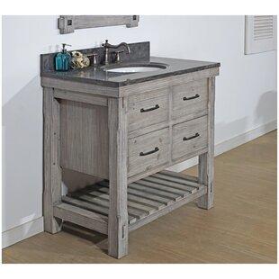 Hamm 36 Rustic Solid Fir Single Bathroom Vanity Set ByGracie Oaks