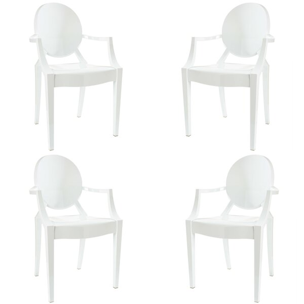 Bentlee Stacking Patio Dining Chair (Set of 4) by Everly Quinn