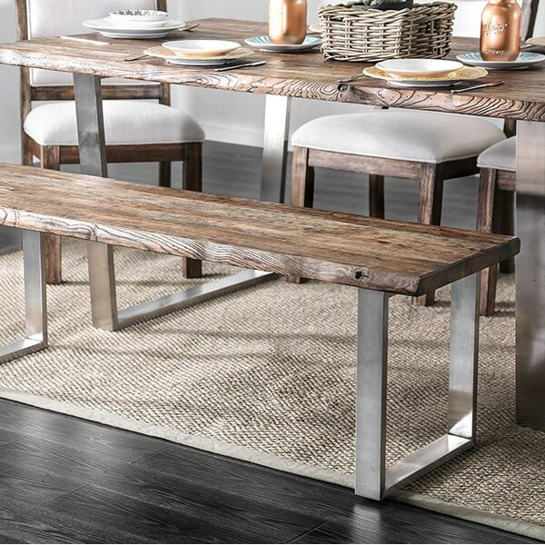 Margrett Wood Dining Bench by Gracie Oaks