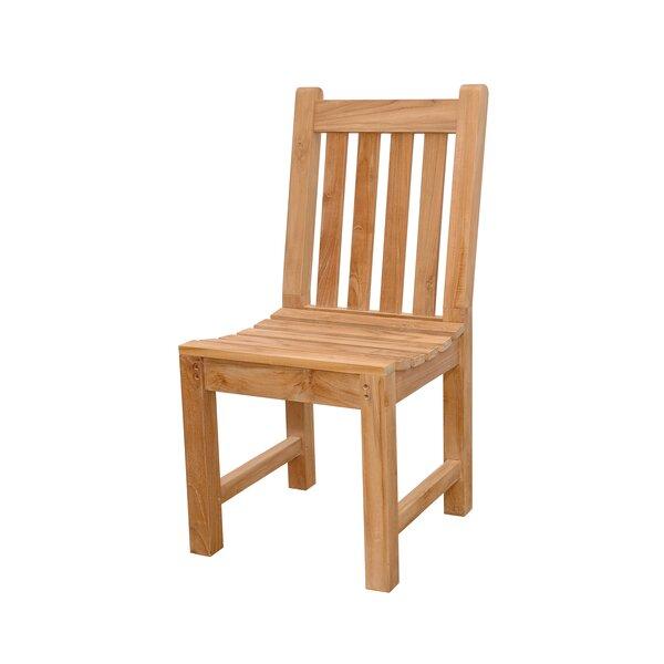 Bova Teak Patio Dining Chair by Freeport Park
