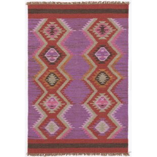 Hand Woven Purple/Red Area Rug
