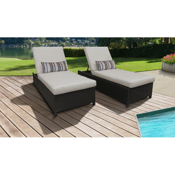 Fernando Sun Lounger Set with Cushion (Set of 2) by Sol 72 Outdoor