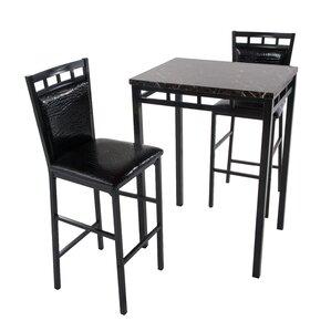 Emmett 3 Piece Pub Table Set by Latitude Run