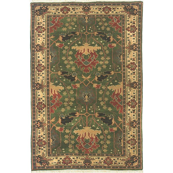 American Home Classic Donagle Emerald/Ivory Area Rug by American Home Rug Co.