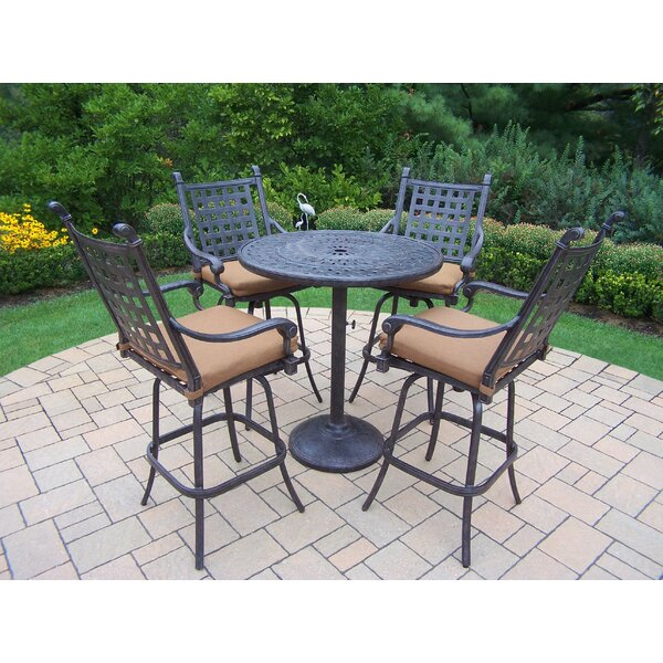 Vandyne 5 Piece Bar Height Dining Set with Cushions by Darby Home Co