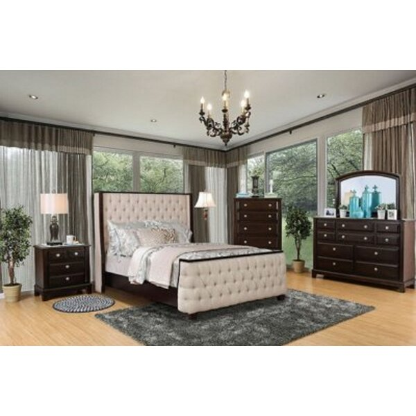 Glenham Queen Platform Solid Wood 5 Piece Bedroom Set (Set of 5) by Winston Porter