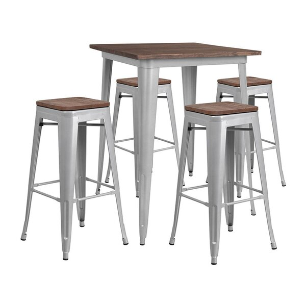 Mulholland Square 5 Piece Pub Table Set by Williston Forge
