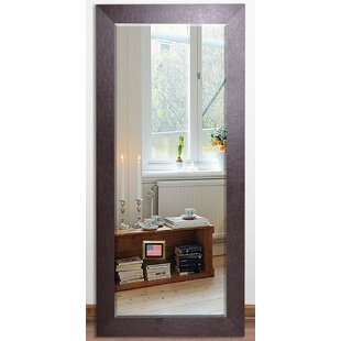 Best Brown Leather Beveled Wall Mirror By Darby Home Co