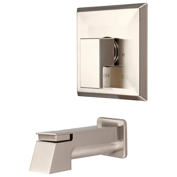 Mod Single Handle Wall Mounted Tub Spout with Trim by Pioneer