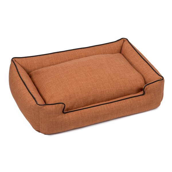 Callen Textured Linen Lounge Dog Bed by Jax & Bone