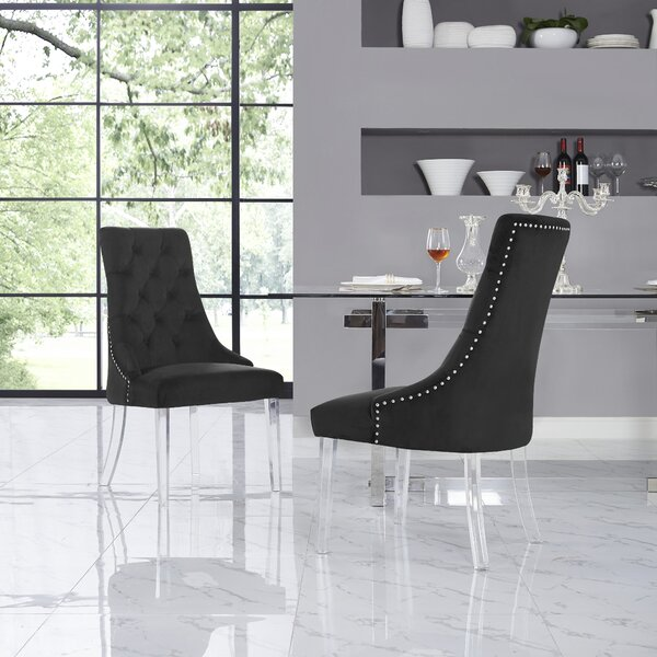 Hannatou Upholstered Dining Chair (Set of 2) by Everly Quinn