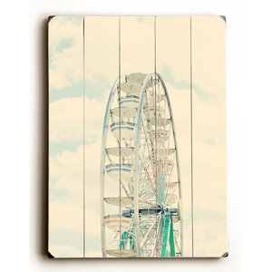 'Ferris Wheel and Sky' Wall Art by Wrought Studio