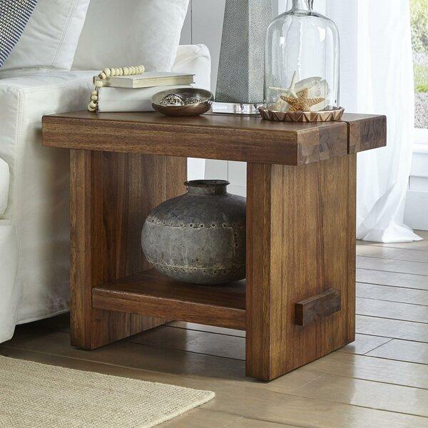 Pabon Sengon Tekik Wooden End Table by Williston Forge
