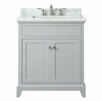 Bhushan Marble Top 31 Single Bathroom Vanity Set by Red Barrel Studio