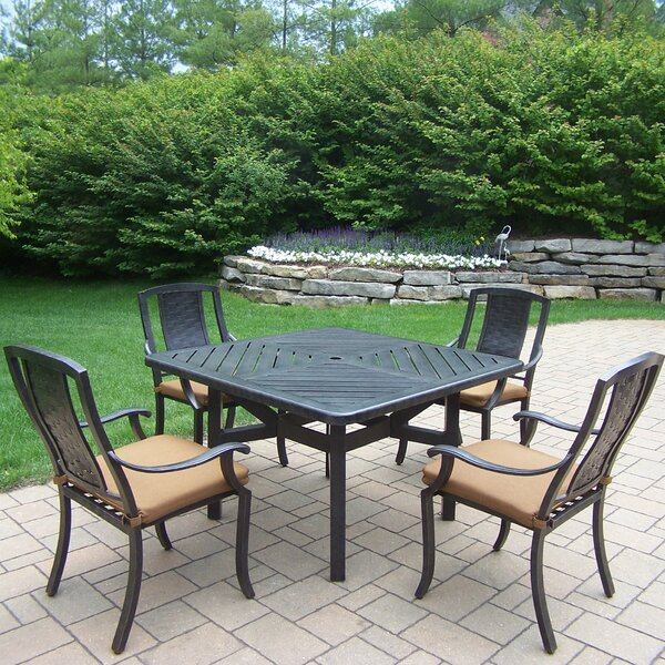 Vanguard 5 Piece Dining Set with Cushions by Oakland Living