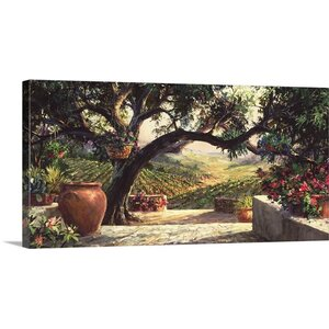 Napa Patio by Art Fronckowiak Painting Print on Wrapped Canvas by Great Big Canvas