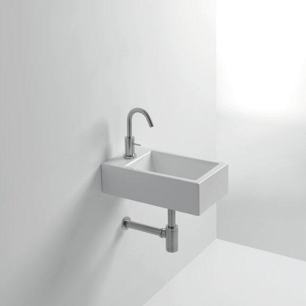 Whitestone Hox Ceramic 18 Wall Mount Bathroom Sink by WS Bath Collections