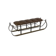 Snow Sled Upholstered Bench by Sarreid Ltd