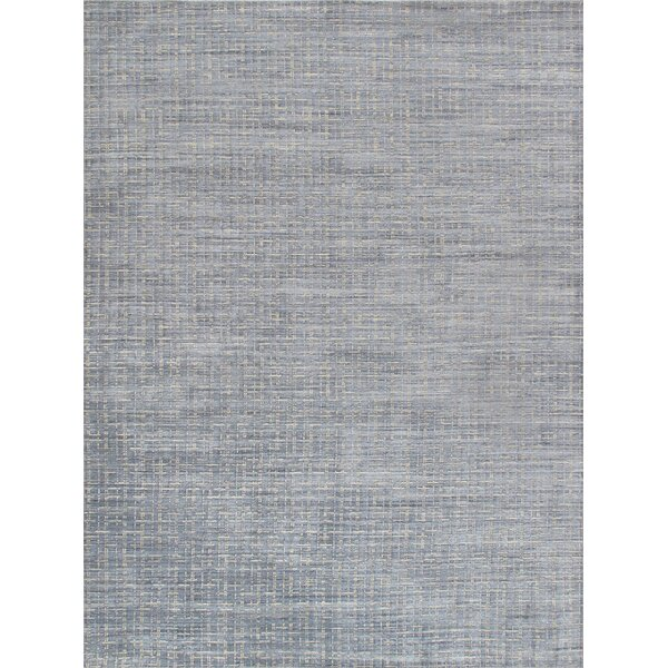 Slate Hand Knotted Gray Rug