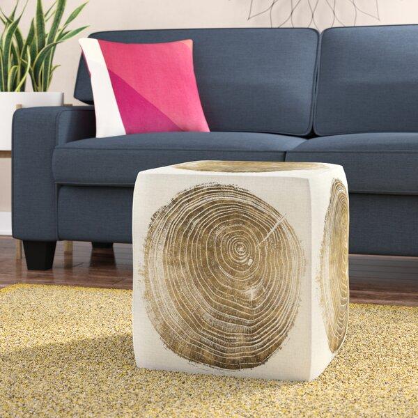 Oakledge Cuore di Legno Cube Ottoman by Wrought Studio