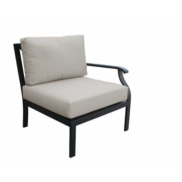 Madison Left Hand Patio Chair with cushions by kathy ireland Homes & Gardens by TK Classics
