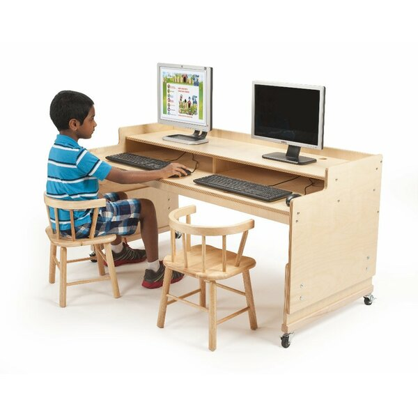 Wood Adjustable Height Student Computer Desk by Whitney Brothers