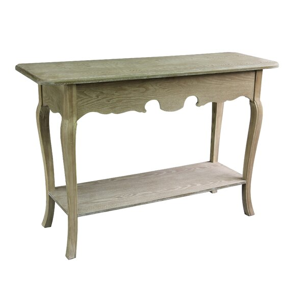 Antique Wood Console Table by Jeco Inc. Jeco Inc.
