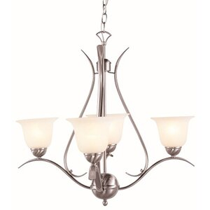 Contemporary 4-Light Semi Flush Mount