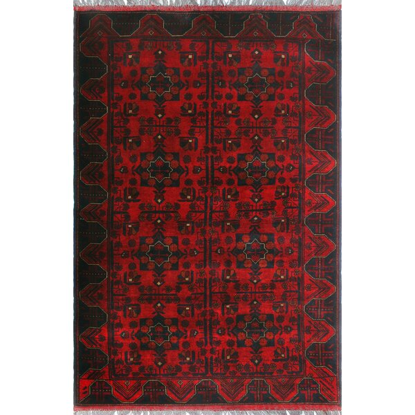 One-of-a-Kind Millar Saada Hand-Knotted Wool Red Are Rug by Bloomsbury Market
