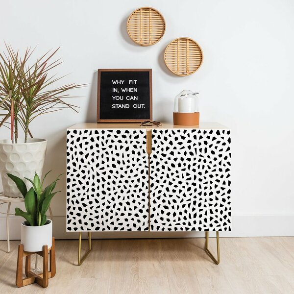 Kelly Haines Geometric Mosaic Accent Cabinet