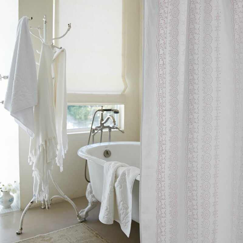 Rachel Ashwell Boho Embroidered Linen Single Shower Curtain Perigold