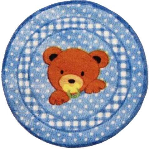 Supreme Teddy Center Blue Bear Area Rug by Fun Rugs