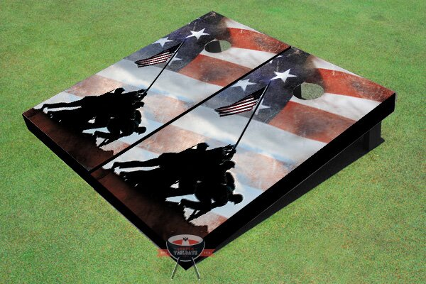 Iwo Jima Memorial Cornhole Board (Set of 2) by All American Tailgate