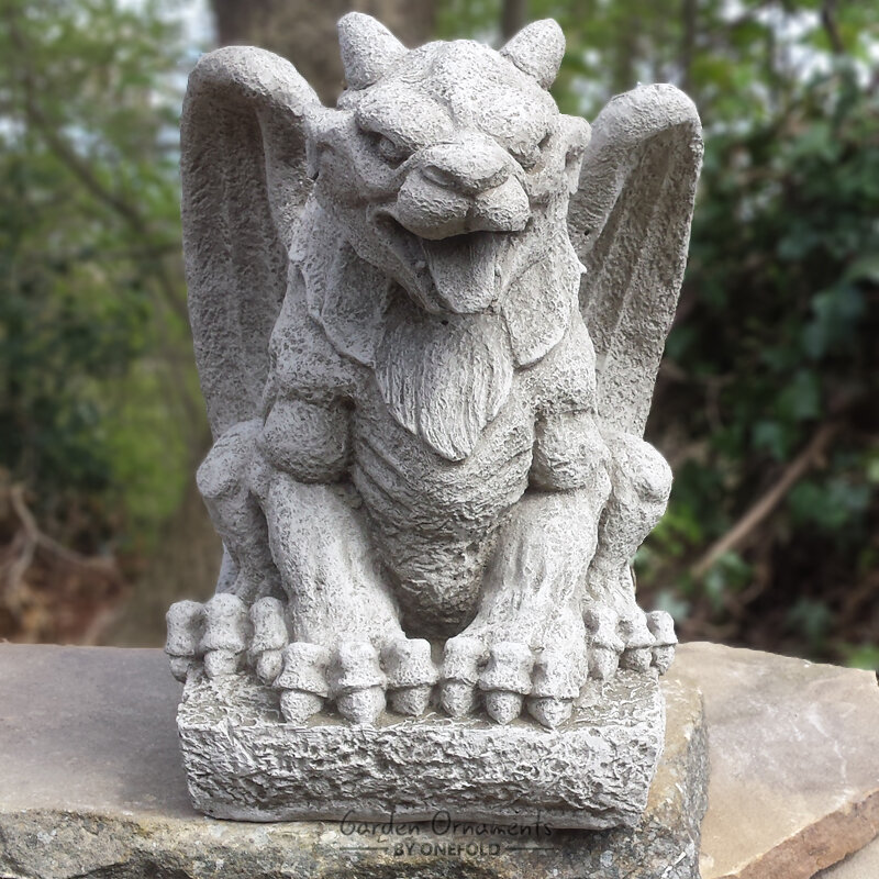 Garden Ornaments By Onefold Wing Gargoyle Garden Statue | Wayfair.co.uk