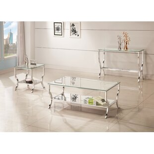 Check Prices Anndale 3 Piece Coffee Table Set ByWilla Arlo Interiors