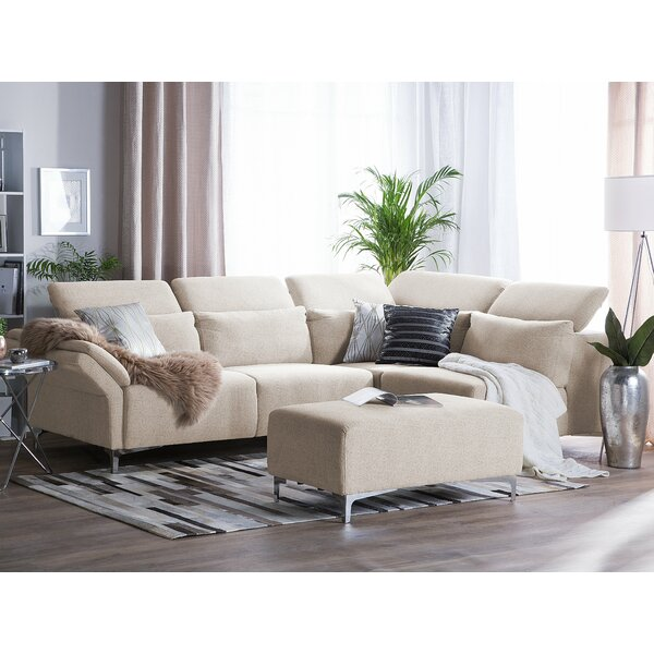 Robitaille Right Hand Facing Modular Sectional with Ottoman by Brayden Studio
