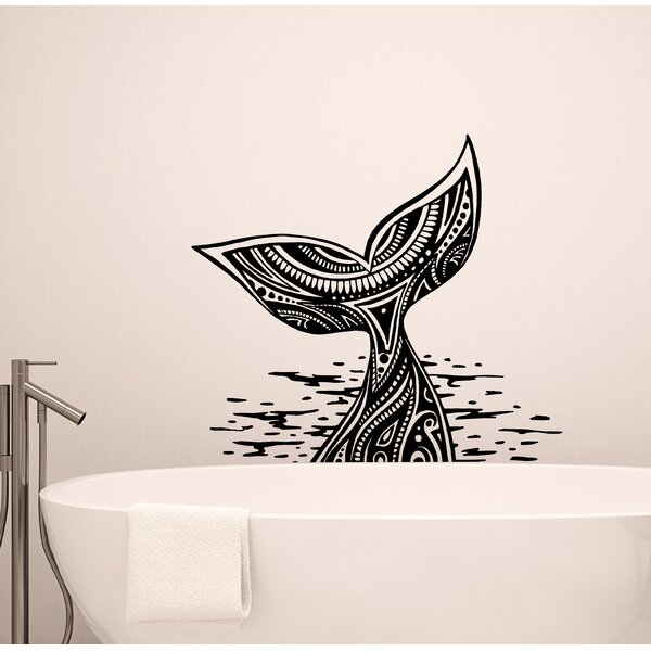 Whale Tail Wall Decal by Breakwater Bay