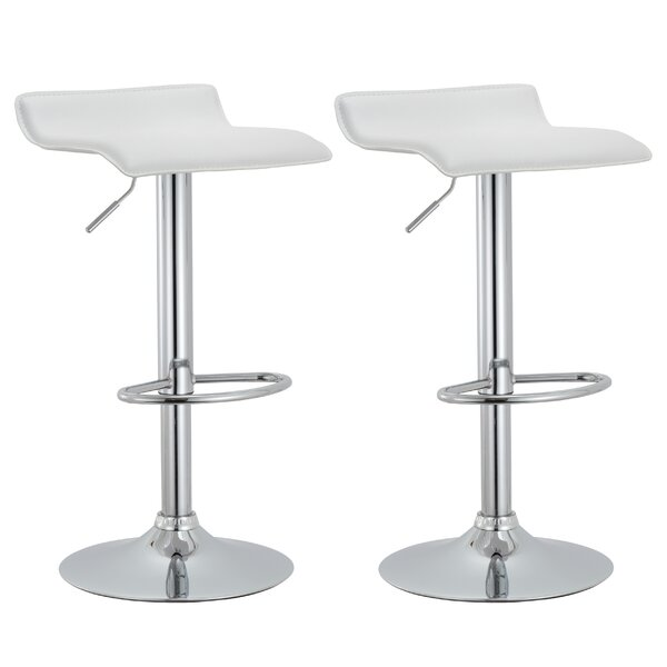 Adjustable Height Swivel Bar Stool (Set of 2) by AC Pacific