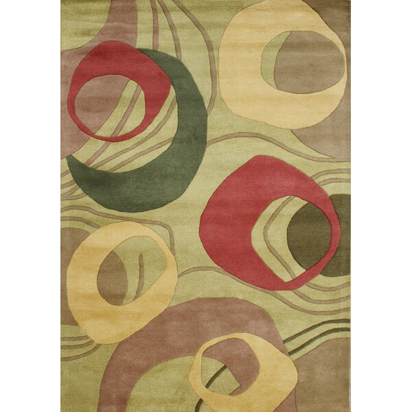 New Zealand Handmade Amber Green Area Rug by Alliyah Rugs